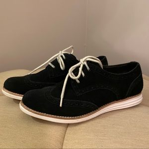 Come Haan Lunargrand suede oxford lace up shoes